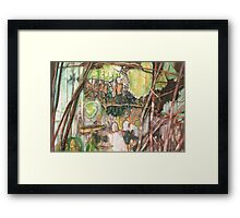 On the Outer ~ Tree Trunk Extracts (flat detail section 2) Framed Print