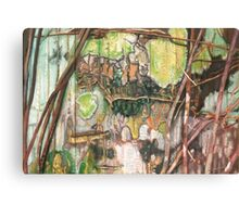 On the Outer ~ Tree Trunk Extracts (flat detail section 2) Canvas Print