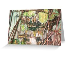 On the Outer ~ Tree Trunk Extracts (flat detail section 2) Greeting Card
