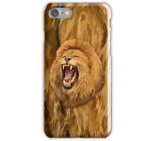 Lion Roar Digital art iPhone Case/Skin