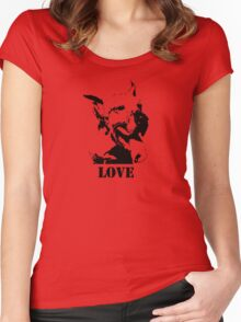 NO-KILL UNITED : ES LOVE Women's Fitted Scoop T-Shirt