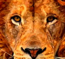 Old Lion Digital art Painting Sticker