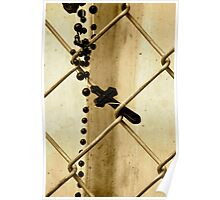 Fenced Cross Poster