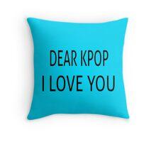 DEAR KPOP - TEAL Throw Pillow