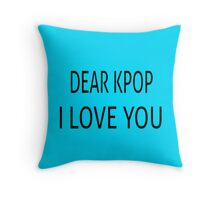 DEAR KPOP - TEAL Throw Pillow