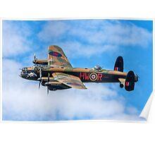"""Avro Lancaster B.1 PA474 HW-R """"Phantom of the Ruhr"""" Poster"""