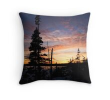 A Northern Sunset Throw Pillow