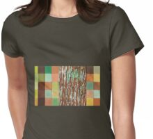 Silky Oak Bark (Detail Section 3b), On the Outer ~ Tree Trunk Extracts  Womens Fitted T-Shirt