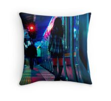 Attente rouge Throw Pillow