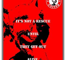 NO-KILL UNITED : ES GET OUT ALIVE (PRINT) by Anthony Trott