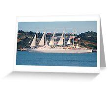 beautiful tallship in Lisbon Greeting Card