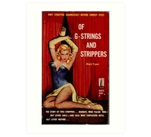 Fantastic Sexy Vintage Pulp Fiction Cover - classic pulp novel Art Print