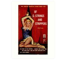 Fantastic Sexy Vintage Pulp Fiction Cover - classic pulp novel Art Print