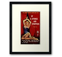 Fantastic Sexy Vintage Pulp Fiction Cover - classic pulp novel Framed Print