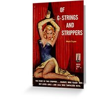 Fantastic Sexy Vintage Pulp Fiction Cover - classic pulp novel Greeting Card