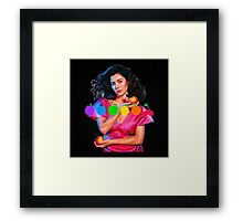 MARINA AND THE DIAMONDS FROOT LOGO AND PICTURE  Framed Print