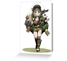 Fallout girl Greeting Card