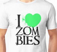 I <3 Zombies. Unisex T-Shirt