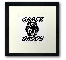 Gamer Daddy Framed Print