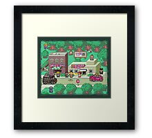 Earthbound Town Framed Print