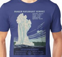 Vintage Yellowstone Poster Unisex T-Shirt