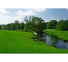 Riverside Meadows, Ashford-in-the-Water  Photographic Print