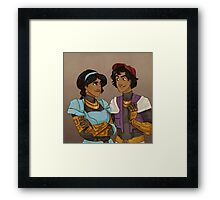 Disney Jaegers - Jasmine and Aladdin  Framed Print
