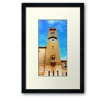 UWA Clock Tower Framed Print