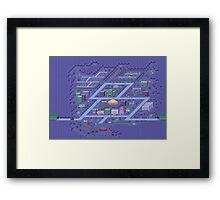 Threed map Framed Print
