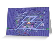 Threed map Greeting Card