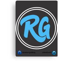 RG Logo with White Circles and Blue Lettering Canvas Print