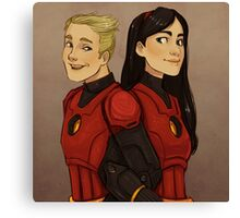 Disney Jaegers - Dash and Violet Canvas Print