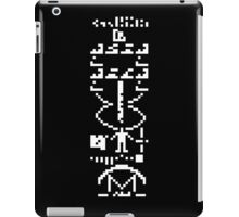 arecibo message iPad Case/Skin