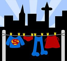 Superman Laundry by Sonia Pascual
