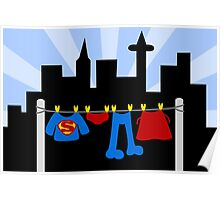 Superman Laundry Poster