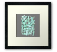 brush type green Framed Print