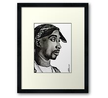 Tupac drawing Framed Print