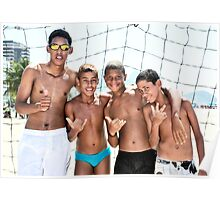 Copacabana football boys, Brazil 2009  Poster