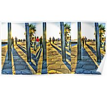 St. Kilda Foreshore HDR Triptych Poster