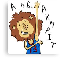 A is for Arm Pit Canvas Print