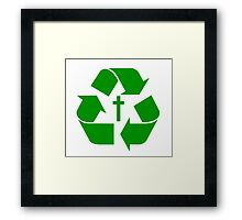 God Recycles people Framed Print