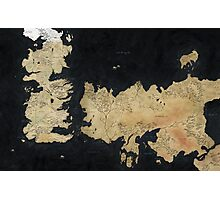 game of thrones-westeros map Photographic Print