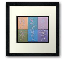 Little Dancers 1-6 Framed Print