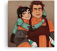 Disney Jaegers - Vanellope and Ralph  Canvas Print