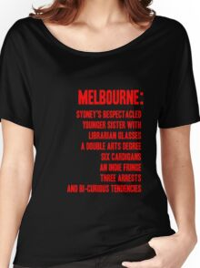 MELBOURNE - BESPECTACLED YOUNGER SISTER Women's Relaxed Fit T-Shirt