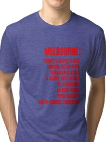 MELBOURNE - BESPECTACLED YOUNGER SISTER Tri-blend T-Shirt