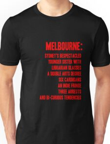 MELBOURNE - BESPECTACLED YOUNGER SISTER Unisex T-Shirt