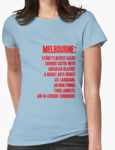 MELBOURNE - BESPECTACLED YOUNGER SISTER Womens Fitted T-Shirt
