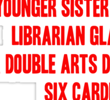 MELBOURNE - BESPECTACLED YOUNGER SISTER Sticker
