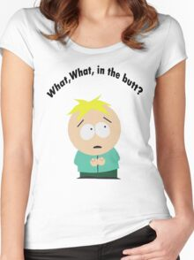 What, What in the butt? Women's Fitted Scoop T-Shirt